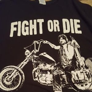 The Walking Dead Daryl Motorcycle T Shirt